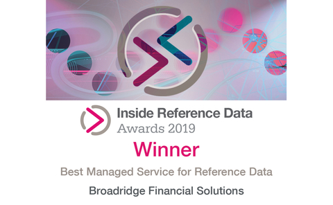 IMDIRD19 – 49 Best Managed Service for Reference Data – Broadridge Financial Solutions