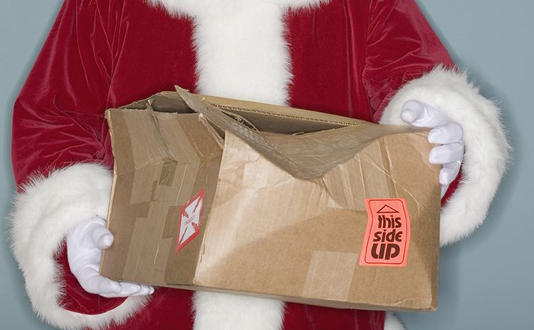 Santa Broken Delivery Package Gift IDM0118