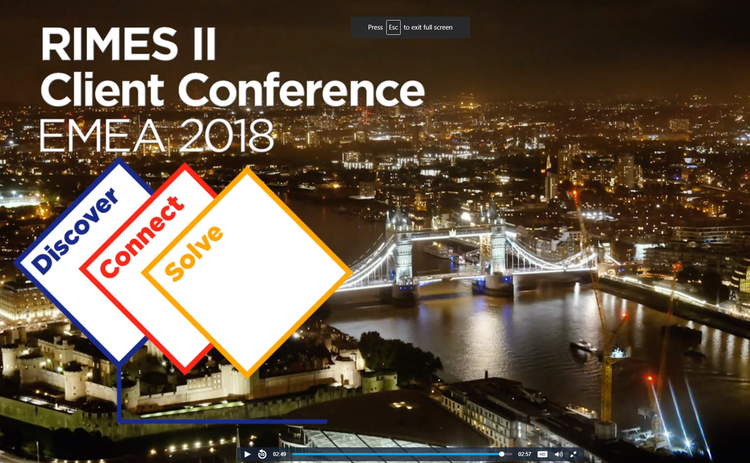 RIMES II Client Conference EMEA 2018 interviews