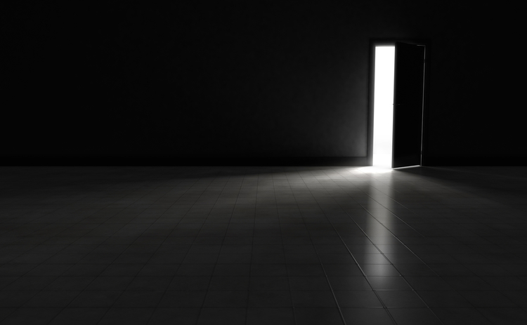 dark room door light