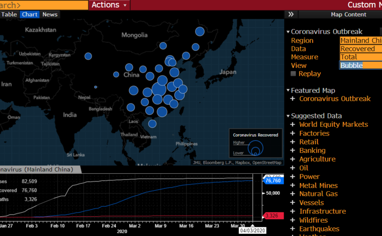 Regional outbreak in China with factory overlay applied