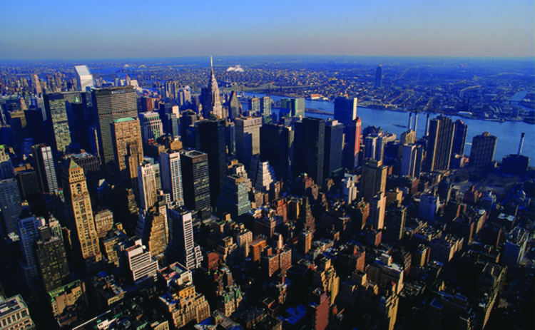 A view of downtown Manhattan in New York