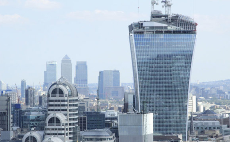 The Walkie Talkie building at 20 Fenchurch Street London