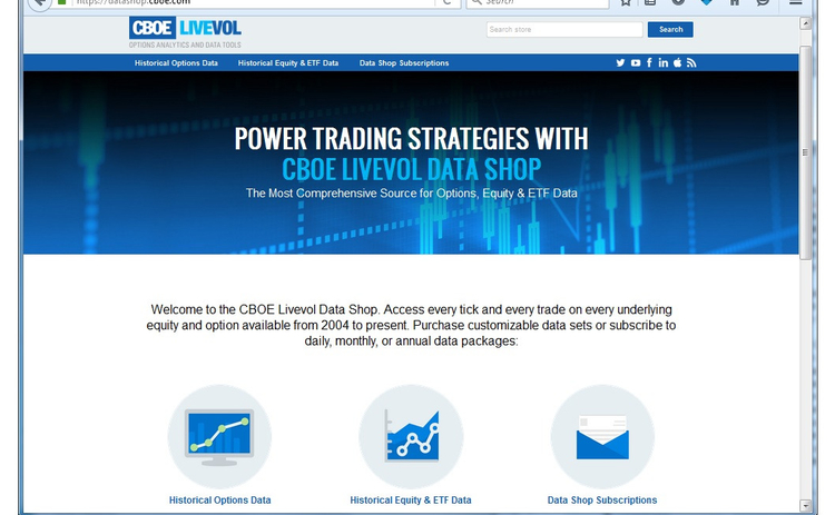 CBOE Launches New Livevol Data Portal - WatersTechnology com