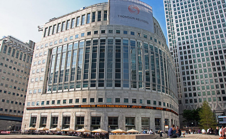 Thomson Reuters building in Canary Wharf