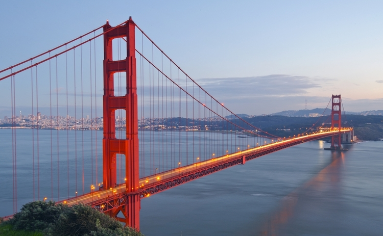 A view of the Golden Gate Bridge in San Francisco